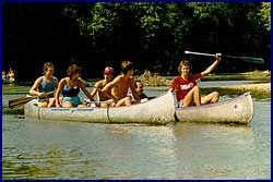 Take your friends canoeing...